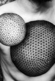 幾何紋身圖案男   視覺沖擊強烈的幾何紋身圖案