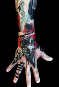 手背紋身   多款風格百變的手背紋身圖案