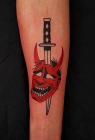 妖魔鬼怪纹身    男人纹身彩绘和黑白灰风格妖魔鬼怪纹身凶猛纹身图案