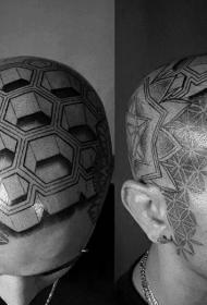頭部紋身圖案   適合男生的頭部紋身圖案