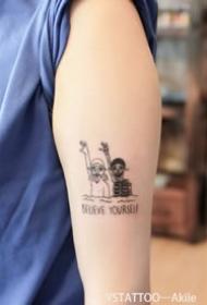 小图案纹身-9张创新又有趣的小图案纹身图片