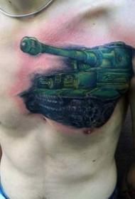 战斗主题纹身_10张男性爱好的坦克等军事战斗纹身图案作品