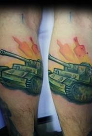 战斗主题纹身_10张关于坦克飞机等战斗军事的纹身图案作品图片