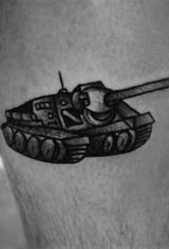 霸气纹身图案-9张霸气十足的坦克纹身图片