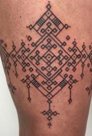 經典紋身圖案-黑灰素描點刺技巧創意文藝結紋經典紋身圖案