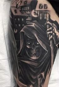 酷炫纹身图案-酷黑的人物风格纹身图片