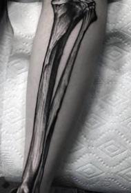 纹身黑色  纹路细腻的解剖纹身图案