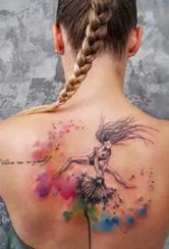 彩绘水彩纹身-怎么纹都好看的彩绘水彩纹身图案