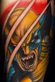 英雄纹身图案 男生喜欢的X战警系列金刚狼纹身图案