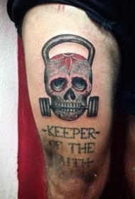健身的纹身   创意实足的健身纹身图案