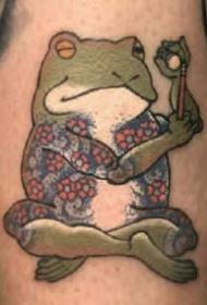 田鸡系列纹身图案-被付与生命的田鸡纹身图片