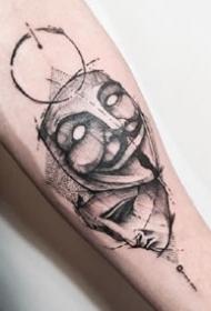 面具风格纹身-永远都充满神秘感的假面纹身图案