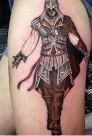人物纹身图案-10张刺客信条人物纹身图案