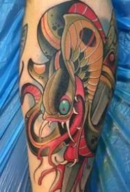 彩色纹身图片-9张画面感十足的创意纹身图案