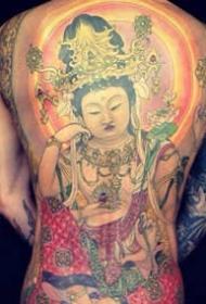 佛像满背纹身图案-20张传统佛像满背纹身图片