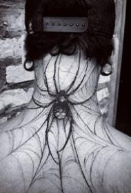 大年夜蜘蛛纹身_一组9张漂亮的蜘蛛纹身图案作品图片