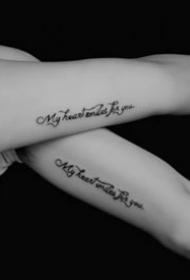 创意纹身图案-9张英语简单创意纹身图案