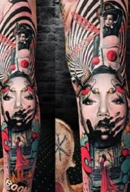 俄罗斯的刺青艺术家Anjelika Kartasheva 的纹身作品