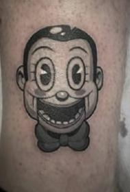 暗黑系卡通纹身图案-9张高级灰的暗黑纹身图片