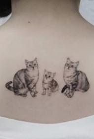 猫纹身作品--9张把宠物猫纹在身上的纹身图案作品