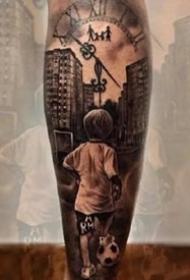 足球纹身--一组和世界杯足球主题相干的纹身作品图片