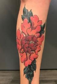 传统花卉纹身--一组手臂上的传统花朵纹身图案图片