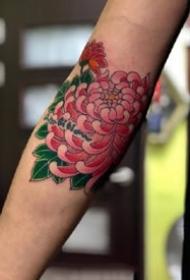 传统花卉纹身--一组传统类型牡丹等花朵纹身图案图片