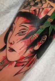 一组彩色的日式风格纹身刺青图片欣赏