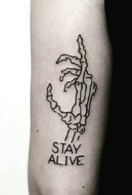 黑白素图纹身图案-9张创意黑白素图纹身图片
