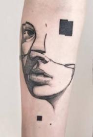 几张抽象风格的纹身作品图案