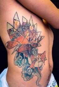 日式折纸纹身--9张彩色日式风格折纸纹身图案欣赏