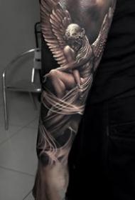 欧美大黑灰纹身--9张精品国外大师的大黑灰欧美纹身图案