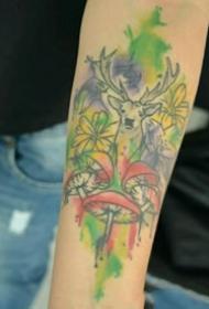 动物纹身图案-10张身体各个部位彩绘纹身或黑白纹身风格的动物纹身图案