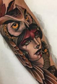 写实动物和人物肖像纹身--西班牙纹身师Alvaro Alonso纹身图案作品