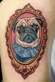 一组适合爱狗人士的宠物狗的纹身图案作品