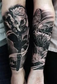 创意情侣纹身--20张适合恋人手臂上的成对情侣纹身图案