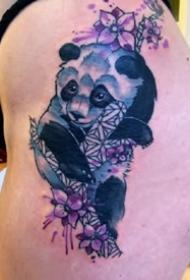 一组独特设计、创意十足的重彩色纹身图案作品