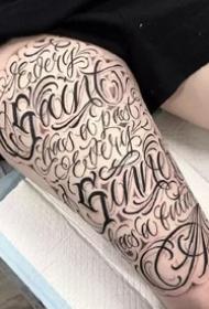 漂亮的一组花体英文纹身图案作品9张