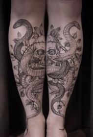 很不错的一组黑灰色纹身图案图片推荐