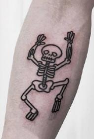 创意简约小黑灰元素的一组纹身图案欣赏