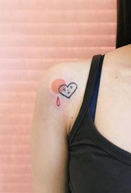 彩色小可爱,清新又简约的一组纹身图片作品