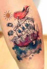 水彩刺青--17张漂亮的精美水彩纹身图案欣赏