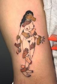 韩国纹身师Kim Mick Hee创意彩色纹身图案作品