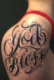 一组9张个性的英文花体字纹身图案欣赏