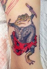 社会青蛙纹身--一组创意日式社会青蛙纹身图案欣赏
