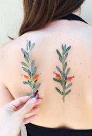 植物花朵--一组简约小清新的植物纹身