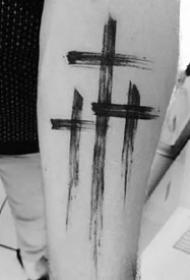 创意纹身十字架--一组个性创意的十字架图案纹身