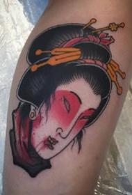 传统日式风格的一组纹身小图案作品欣赏
