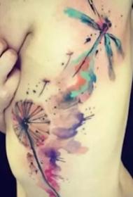 彩色的创意趣味涂鸦纹身图案作品