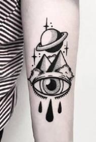 9张黑色耐看的手臂纯黑色小图案纹身作品